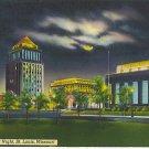1949 Civic Center at Night, St. Louis, Missouri post card
