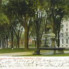 1907 Welton Fountain and the Green, Waterbury, Conn.  undivided back post card