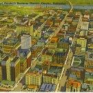 Skyline View of Omaha's Business District, Omaha, Nebraska  linen post card