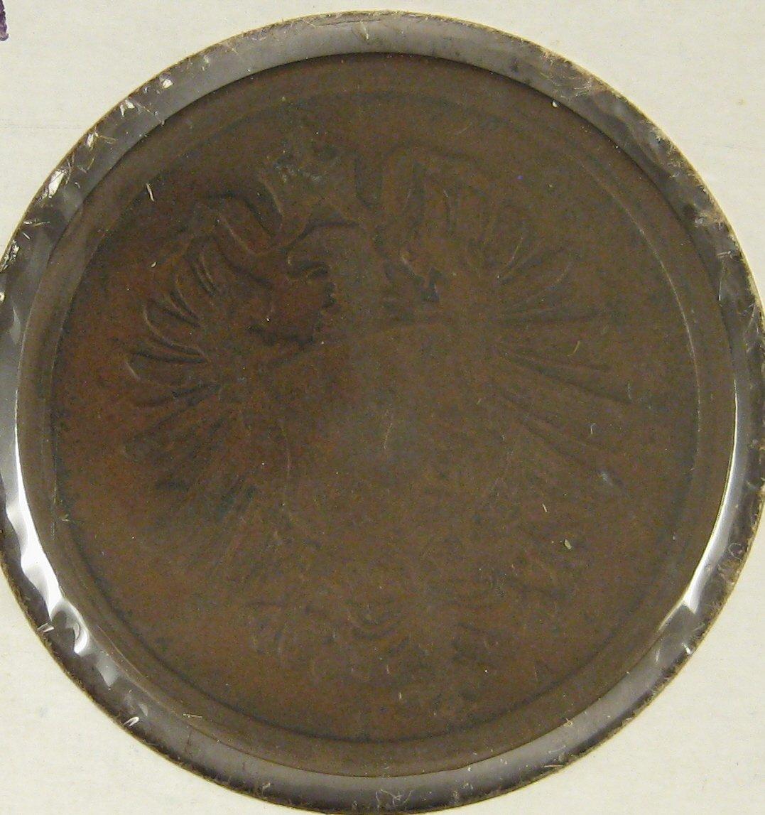 1875A German Empire 2 Pfennig #4112