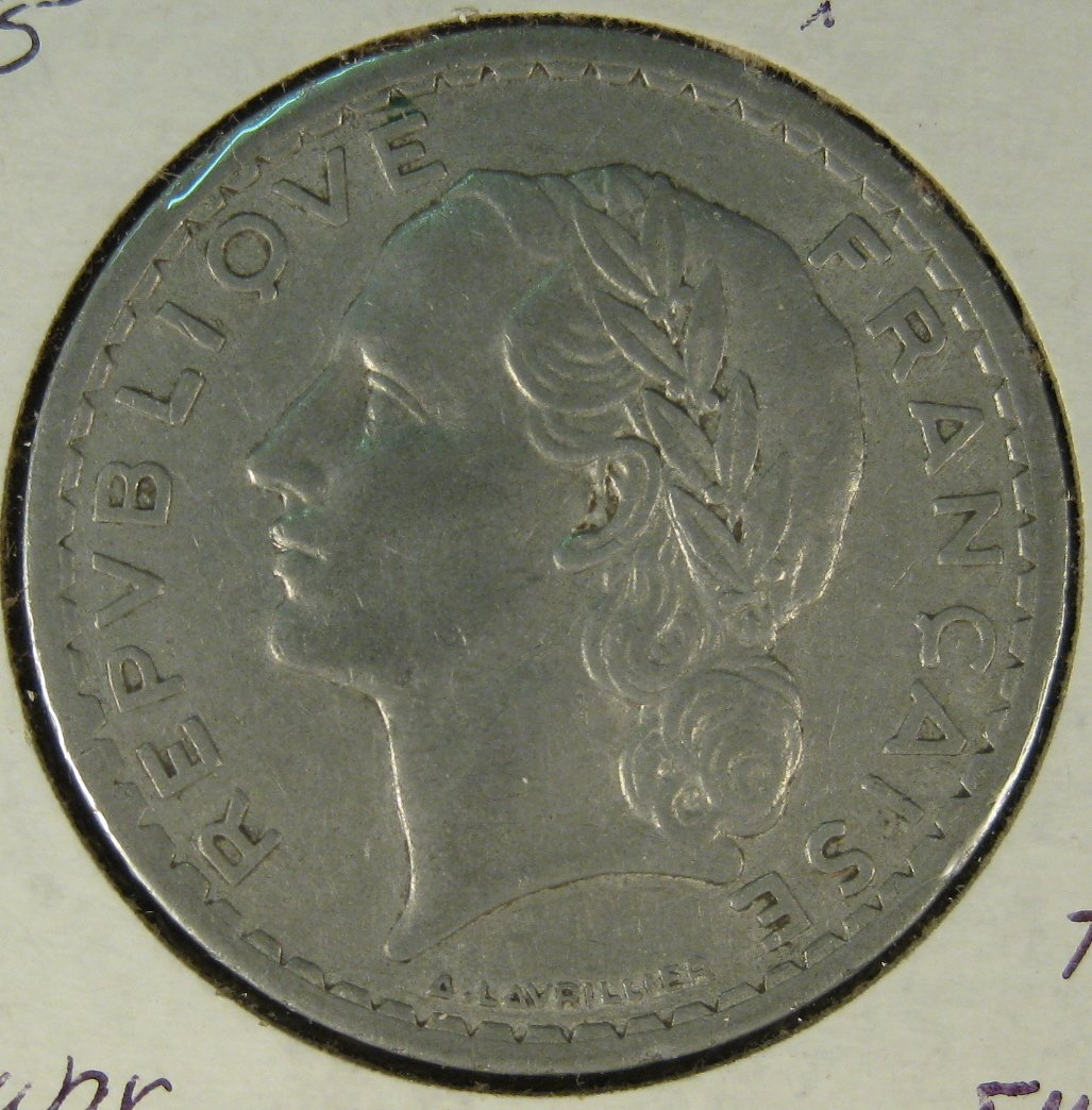 1945 5 francs France #4119