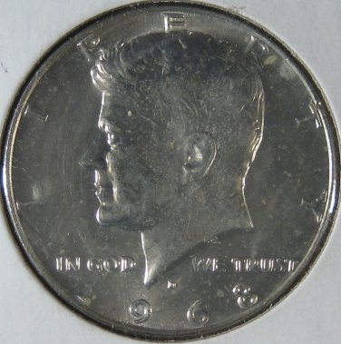 1968 D mint clipping