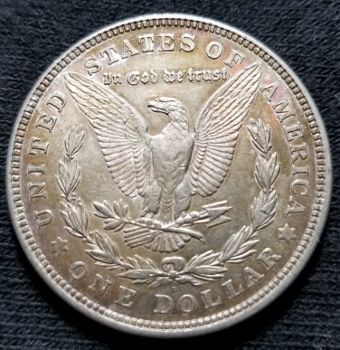 1921-D Morgan Dollar - AU details