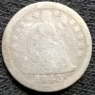 1843-O Seated Liberty Dime - G6 Details