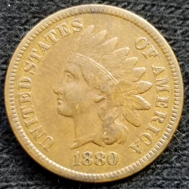 1880 Indian Head Cent - VF30