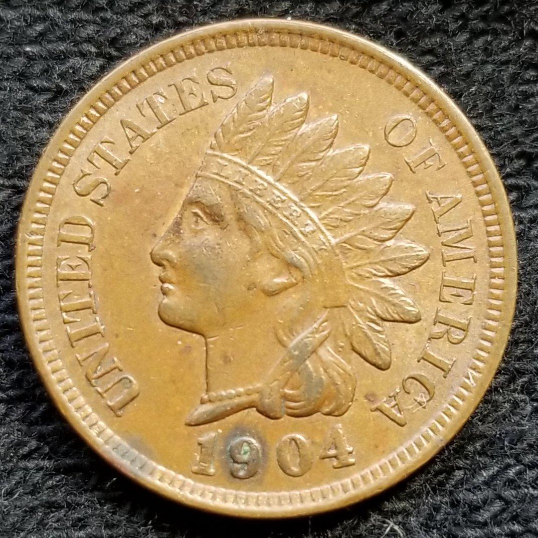 1904 Indian Head Cent - AU50