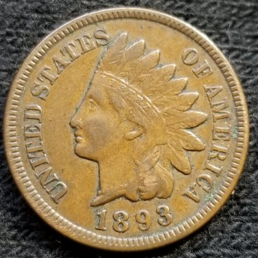 1893 Indian Head Cent - VF30