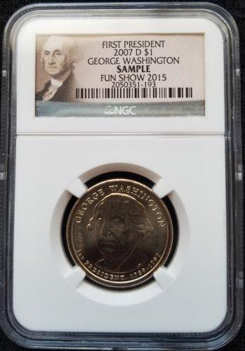 2007-D George Washington Dollar - NGC Sample