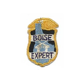 """Vintage """"BOISE EXPERT"""" Embroidered Shooter's Patch - Idaho"""