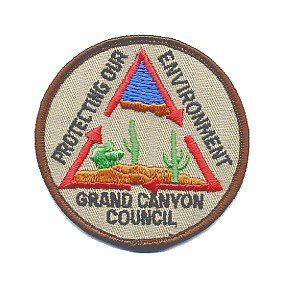 GRAND CANYON COUNCIL SCOUT PATCH - Protecting Our Environment