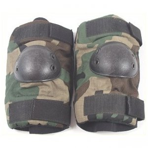 Bijan's Camo Elbow Pads - Paintball / Hunting - Size Small