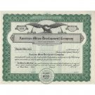 Lot of 5 AMERICAN MINES DEVELOPMENT COMPANY Stock Certificates, Un-Used IDAHO