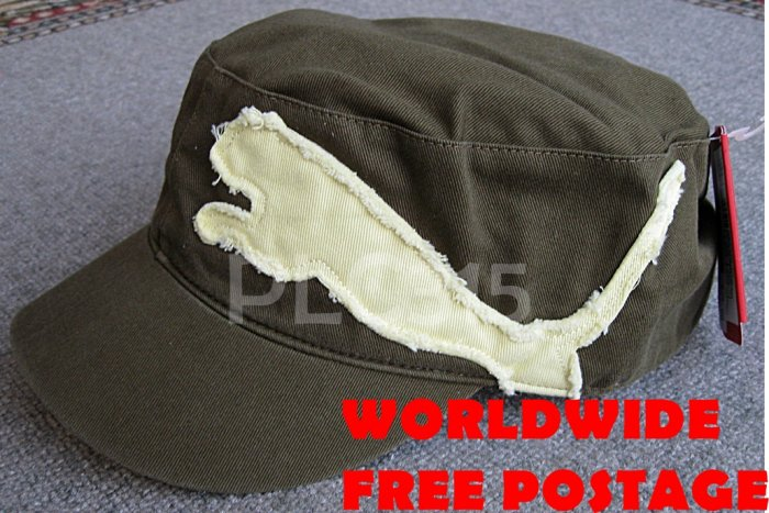 PUMA UNISEX MILITARY STYLE GOLF HAT/CAP NEW WITH TAG ONE SIZE FITS ALL OSFA FREE SHIPPING WORLDWIDE