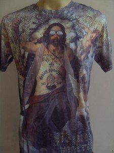 Minute Mirth 60s Saint Tattoo Men T-shirt White M L