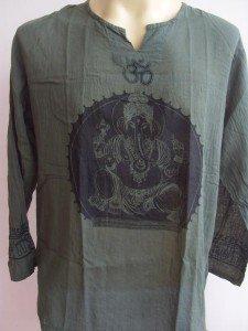 Ganesh Men's T Shirt OM Hindu India Green XL
