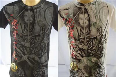 Emperor Eternity Fighting Samurai Tattoo T-shirt M L