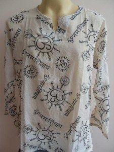 Ganesh Om Men's T Shirt Hindu India White L