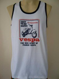 Scooter  Men T-Shirt Tank White Singlet Vest L