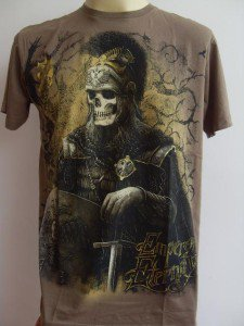 Emperor Eternity Skull General Tattoo Men T-shirt Brown L