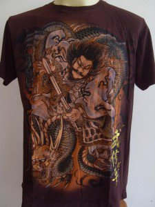Emperor Eternity Dragon Killer Samurai Tattoo brown M