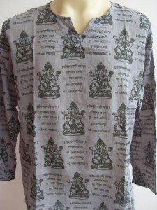 Ganesha Ganesh  Men's T Shirt OM Hindu India Gray L 18065 8207