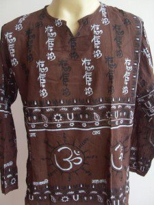 Ganesh Men's T Shirt OM Hindu India Brown L #5