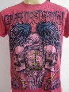 Emperor Eternity Eagle Double Skull Tattoo Cerise S
