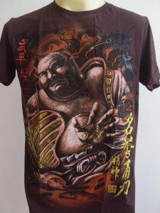 Emperor Eternity Hotei Japanese Tattoo T shirt brown M