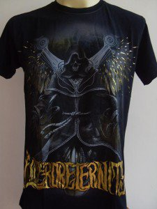 Emperor Eternity Flying Robot Tattoo T-shirt Black L