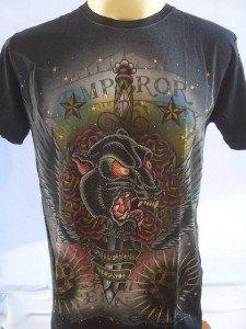 Emperor Eternity Glittering Black Tiger Tattoo shirt  M