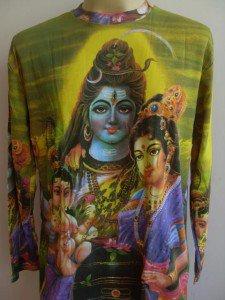 Shiva family Ganesh God Hindu Deity Hinduism India L Long sleeve