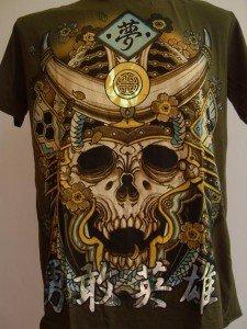 Emperor Eternity Skull Devil Samurai Tattoo Green L