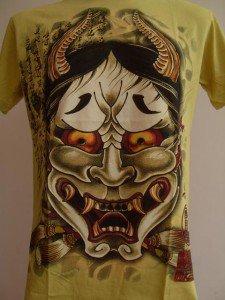 Emperor Eternity Oni Kabuki Japanese Mask Yellow L