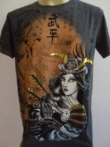 Emperor Eternity Lady Warrior Tattoo T shirt  Gray L
