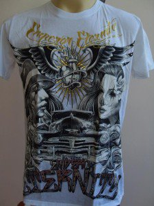 Emperor Eternity Burning Winged Heart T-shirt White M