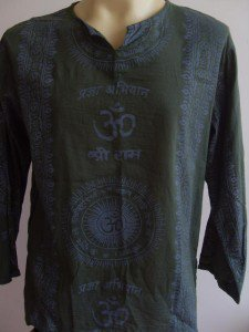 Ganesha OM  Men's T Shirt  Hindu India Green L #OM