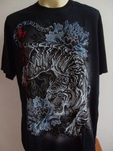 Emperor Eternity Peony Tiger Tattoo T-shirt black M