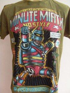 Minute Mirth Skull Undercover Superhero Tattoo Green L