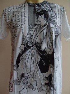 Emperor Eternity Dragon Samurai Ronin Men Tattoo T-shirt White L 18081 9878