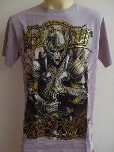 Emperor Eternity Skull Knight Tattoo T-shirt pink L