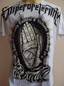Emperor Eternity Namaste Men T shirt tattoo White M