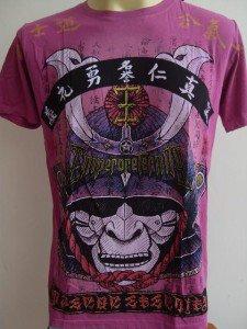 Emperor Eternity Samurai Face Mask T-shirt Purple M