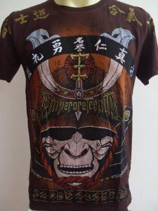 Emperor Eternity Samurai Face Mask T-shirt Brown M L