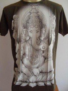 Ganesha Ganesh Men T Shirt OM Hindu India Army L #SW4