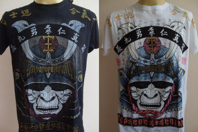 Emperor Eternity Samurai Face Mask T-shirt M L XL