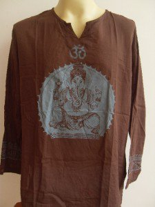 Ganesh Ganesha Om Men's T Shirt Hindu India Brown XL #Brga 18073 7379