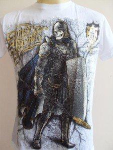 Emperor Eternity Skull Lion Warrior Men T-shirt white L