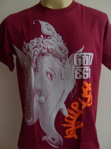 Ganesha Ganesh Lord T Shirt OM Hindu India Red M