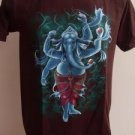 Ganesha Ganesh Men T Shirt OM Hindu India Brown M # STBr