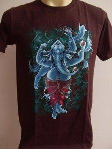 Ganesha Ganesh Men T Shirt OM Hindu India Brown M # STBr